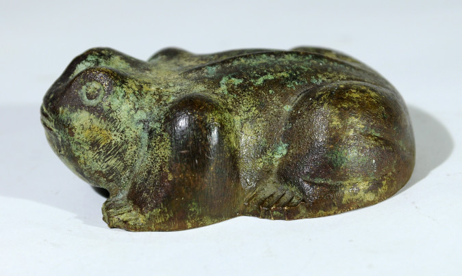 Old Large Metal Frog Early 20th Century Length 11 cm