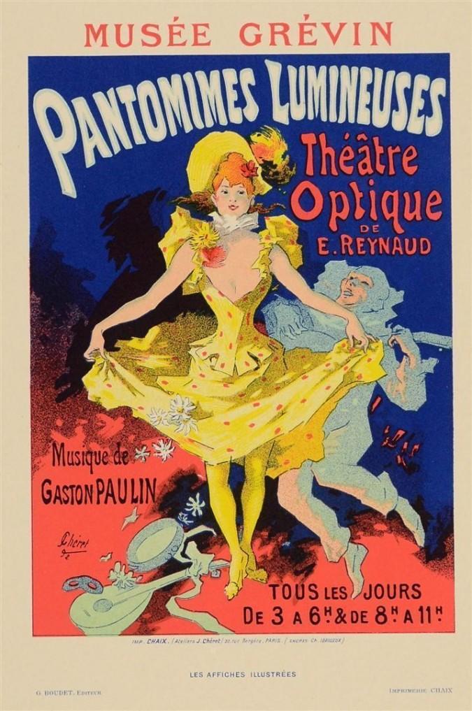 Original Vintage French Lithograph Les Affiches Illustrees, Chaix, Paris by Chéret 1892