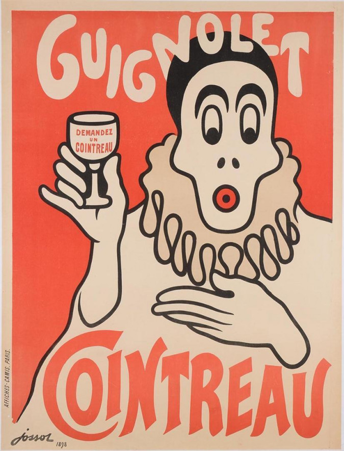 "Original Vintage French Advertising Poster ""Guignolet Cointreau"" by Jossot 1898"