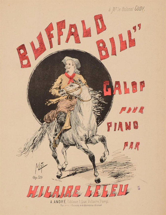 Original Vintage Music Notes for BUFFALO BILL