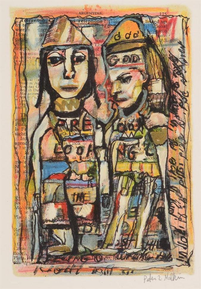 "Peter Zvi Malkin ""THE MAN WHO CAPTURED EICHMANN""  A Signed Original Lithograph ""AP"""