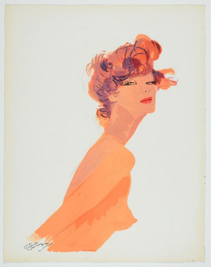 La Parisienne - GABRIEL DOMERGUE  - Original Lithograph