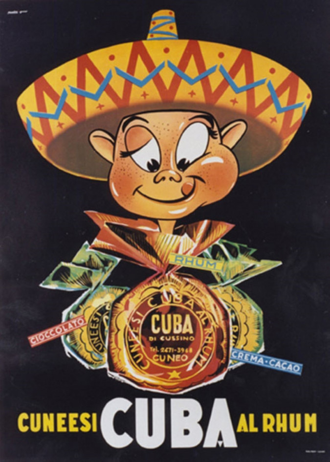 Vintage French Poster Advertising Coca and Rum