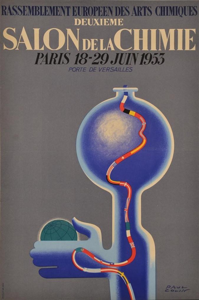"""Advertising Poster Chemistry Exhibition """"Salon de la Chimie Paris"""""""