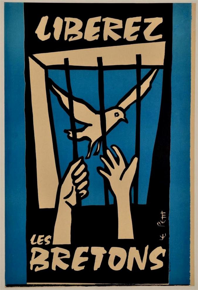 "Original French Vintage Poster ""Liberez les Bretons"""
