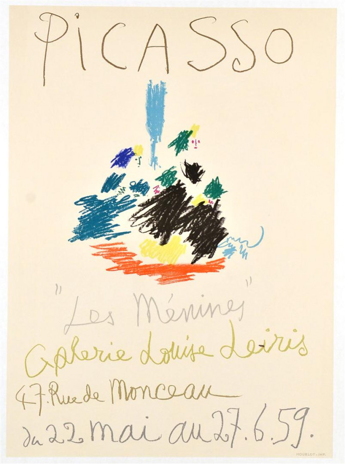 """Original French Poster by Picasso  """"22.5. 59 -  27.6.59"""" """"Les Ménines"""" 1957"""