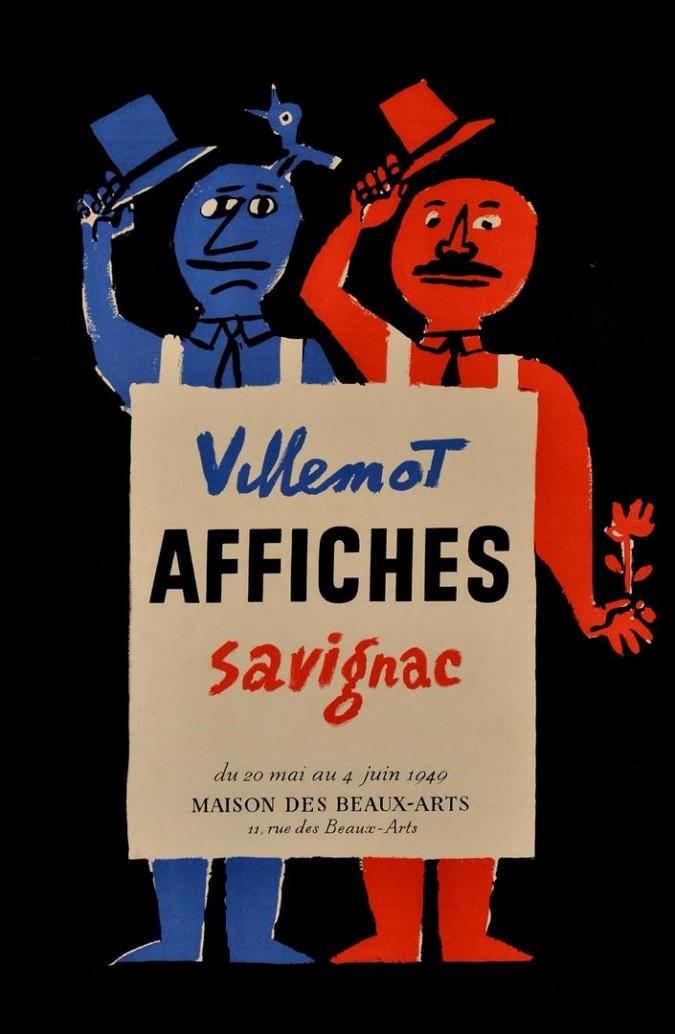 Original Vintage French - Maison des Beaux-Arts - Savignac & Villemot 1949