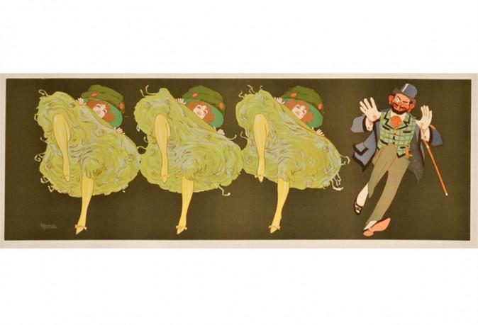 "Original Vintage Poster ""Dancers Before Letters"" by Edoudrd Bernard"