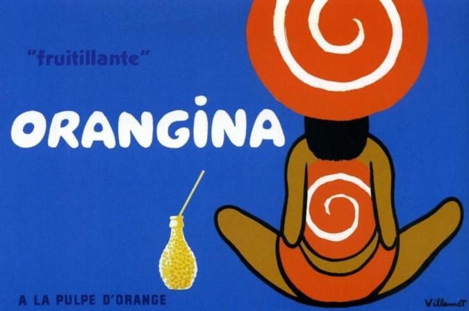 "Original Vintage French Poster for ""Orangina"" ""fruitillante"" by Bernard VILLEMOT"