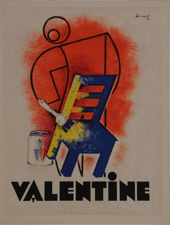 Art Deco French Poster Valentine (small format)