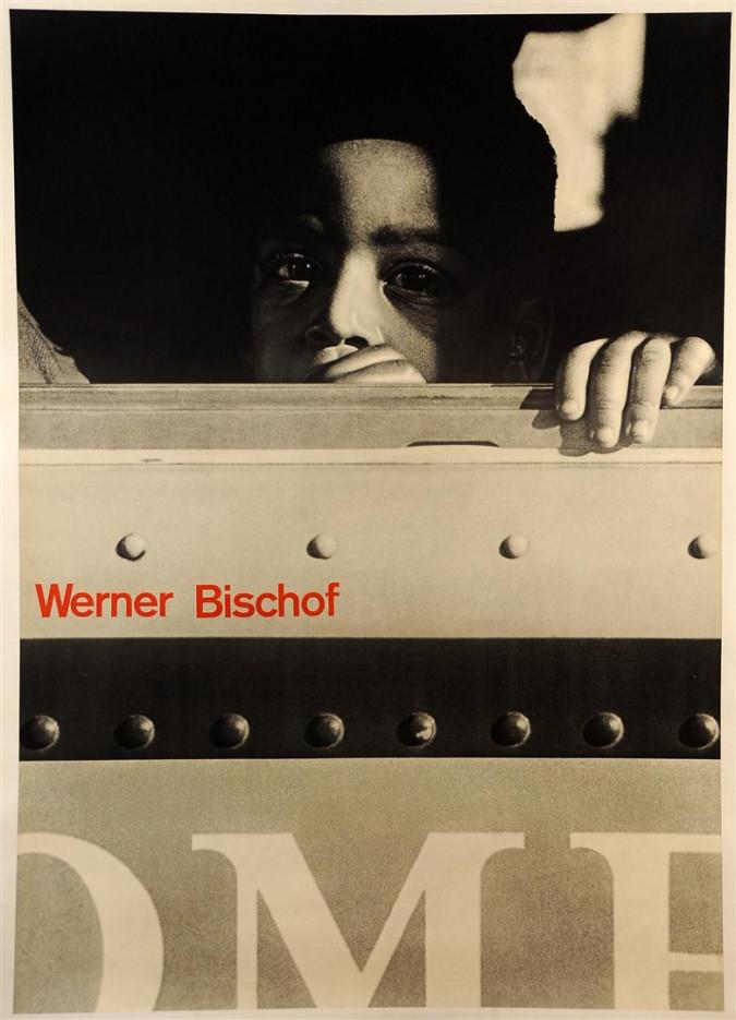 """Original Swiss Photograph Poster """"Werner Bischof"""" by Brockmann, J. Muuer 1950"""