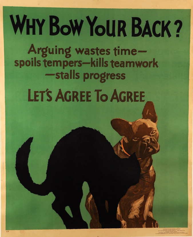 """Poster Mother & Co Chicago """"Why Bow Your Back?"""" 1920's"""