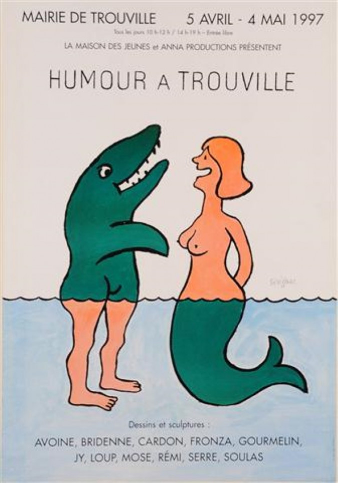 "Original Vintage Travel French Poster ""Humour in Trouville"" By Savignac 1997"