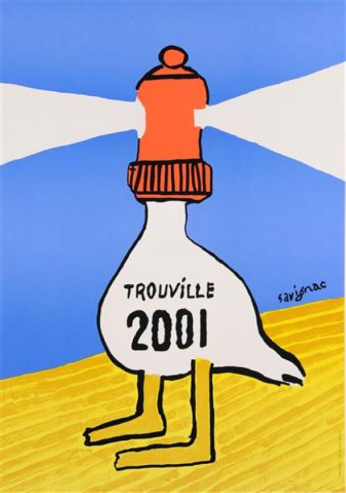 "Original Vintage Travel French Poster ""Humour in Trouville"" By Savignac 2001"