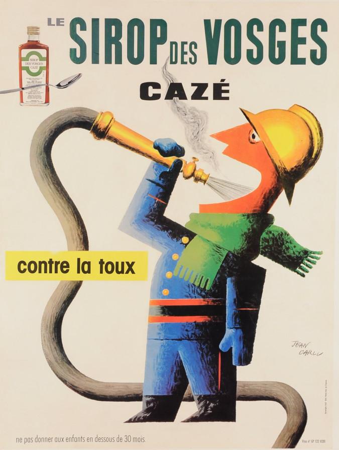 "Original Vintage French Ad Poster ""Sirop des Vosges"" by Jean Carlu 1950"