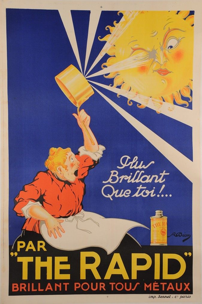"""Original French Soap Advertising Poster """"The Rapid"""""""