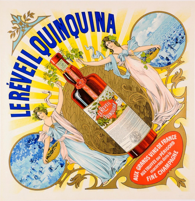 "French Alcohol Advertising Poster ""Le Réveil Quinquina"""