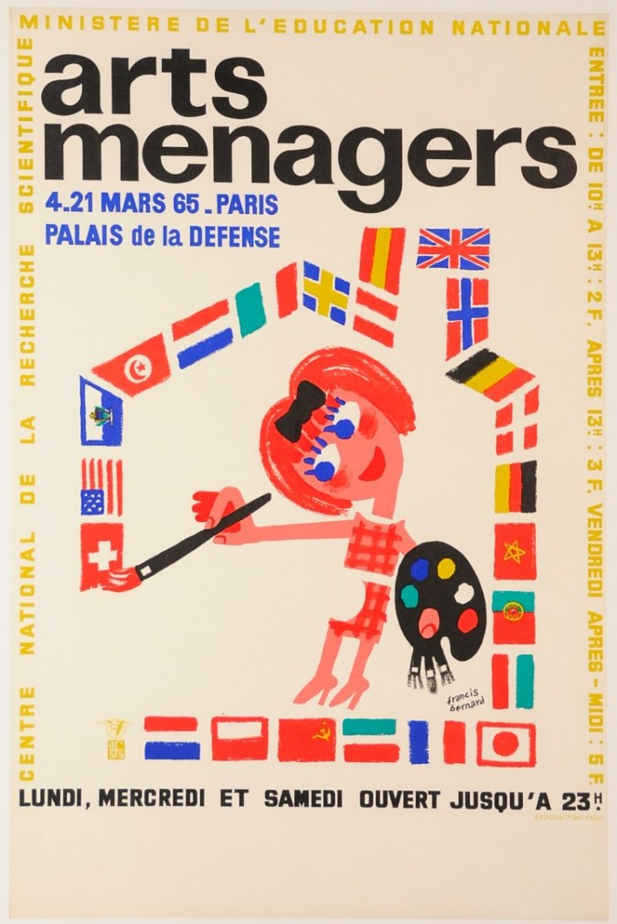 """French Poster """"Arts Ménagers"""" Exhibition at Palais de la Défense"""