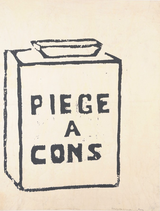 """French Student Revolution Poster """"PIEGE A CONS"""""""