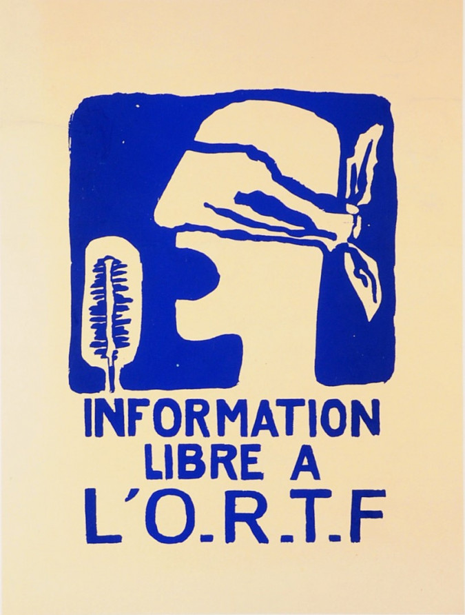 French Student Revolution Poster L´O.R.T.F