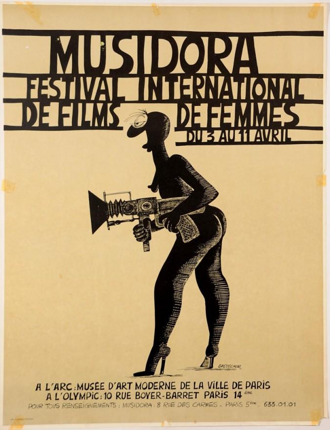 "Rare French Feminists Movement Poster ""Musidora"" Bretecher"