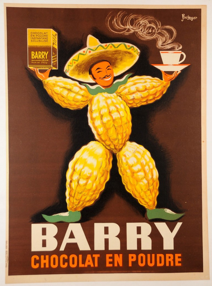 Advertising Poster Barry Chocolate - Bellenger Brothers