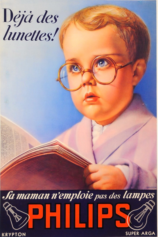 """Original Vintage French Poster advertising """"Philips"""" by Draeger ca. 1960"""