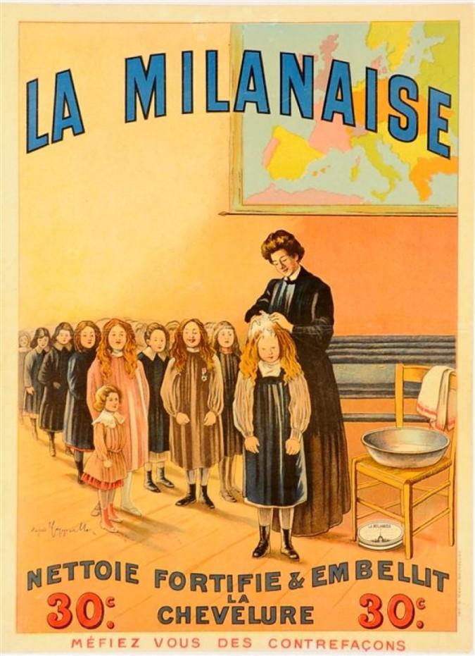 "Original Vintage French Poster ""La  Milanaise"" by Cappiello ca. 1910"