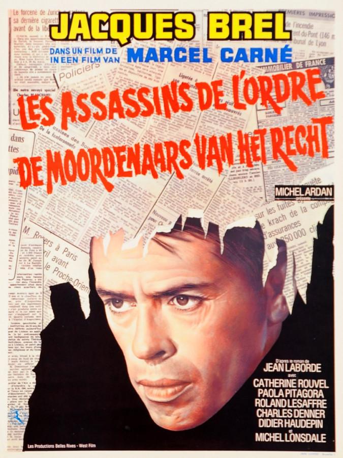 Original Vintage Movie Poster with Jaccques Brel 1970's