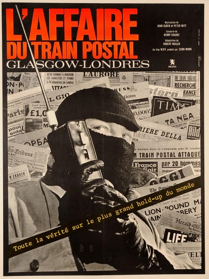 """Original Vintage French Movie Poster """"L'Affaire du Train Postal"""" 1963"""