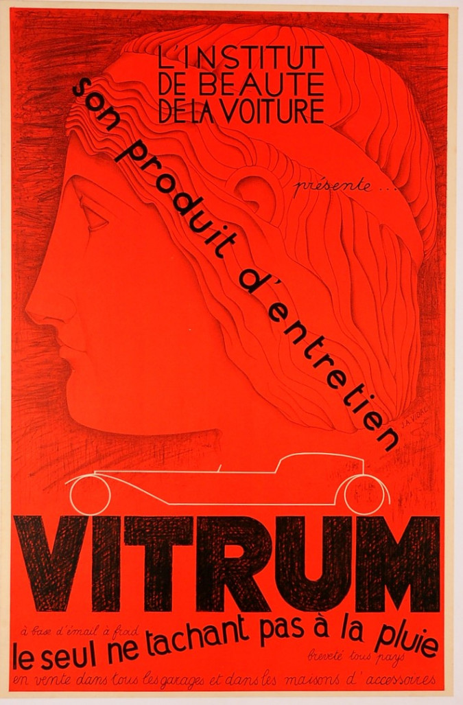 "Original Vintage French Poster Advertising ""Vitrum"" by J. A. Vidal ca. 1920"