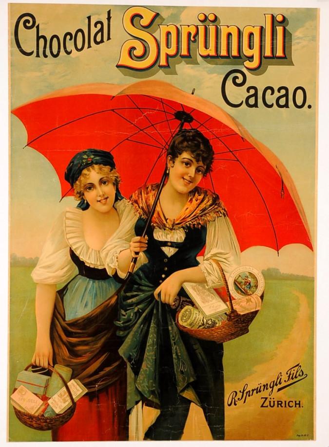 "Original Vintage Advertising Poster"" Chocolat Sprungli"""