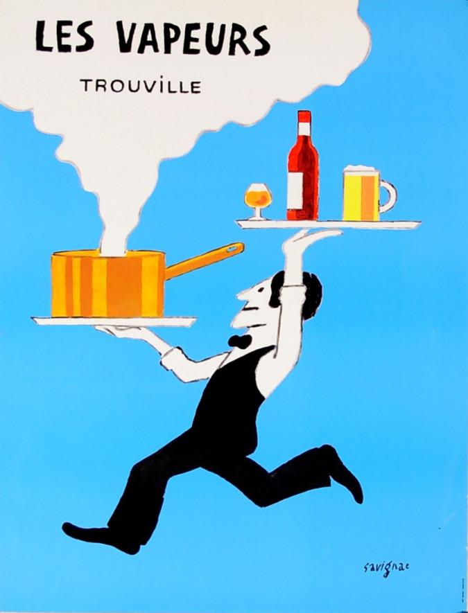 """Original Vintage French Poster """"Les Vapeurs Trouville"""" by Savignac"""
