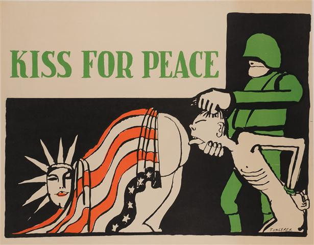 "Propaganda Poster ""KISS FOR PEACE"""