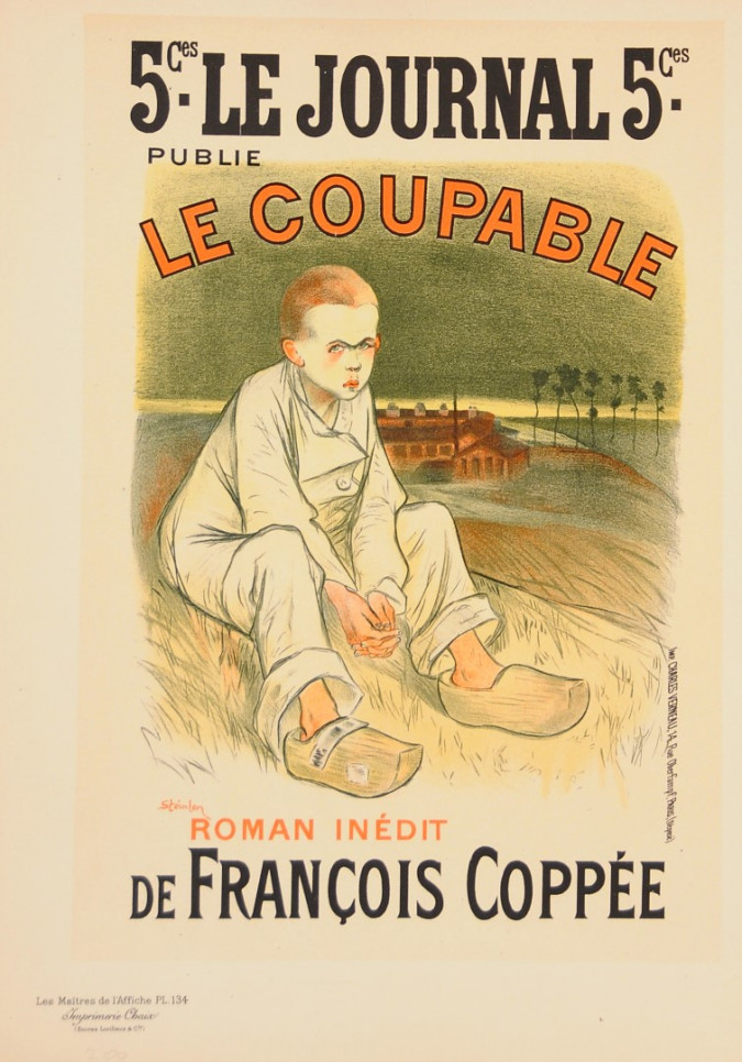 "Original Vintage French Lithograph from ""Les Maîtres de l'Affiche"" by Steinlen"
