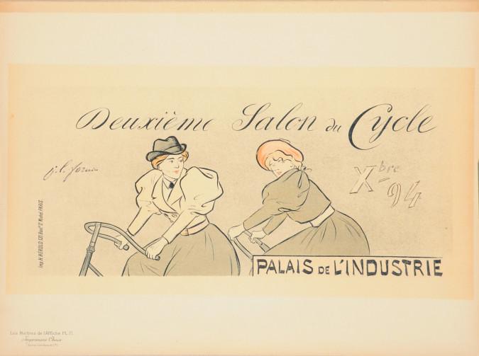 """Original Vintage French Lithograph """"Les Maîtres de l'Affiche"""" by Forain 1897"""