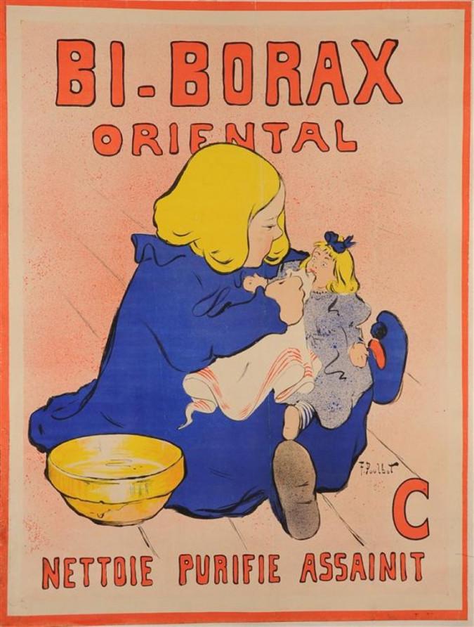 "French Advertising Poster ""Bi-Borax Oriental"" F. Poulbo"