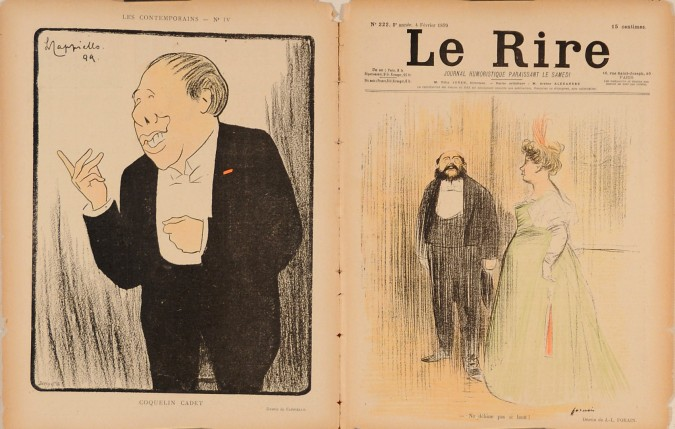 "Original lithograph by Cappiello & Forain from the Magazine ""Le Rire"" 1899"