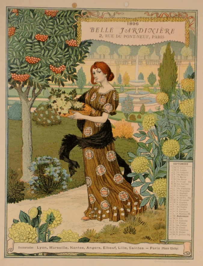 A Set of 12 Original Art Nouveau Color Lithograph by Eugène Grasset -Malherbe 1896