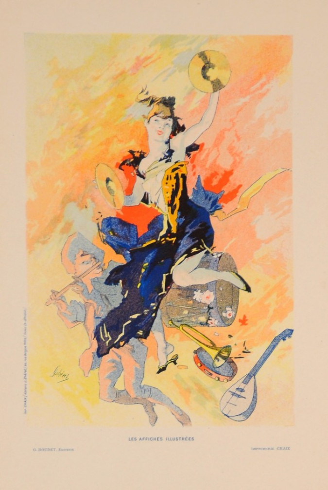 "French Art Nouveau Lithograph ""Les Affiches Illustrees"", Chaix, Paris"