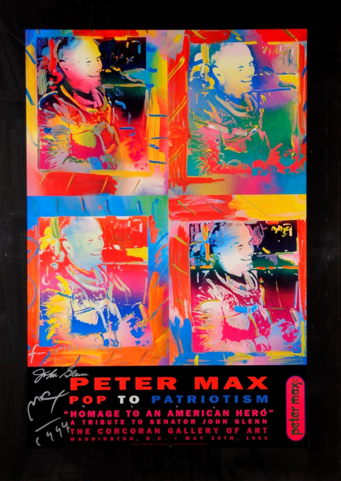 "Peter Max Poster ""Homage To An American Hero"" Pop Art"