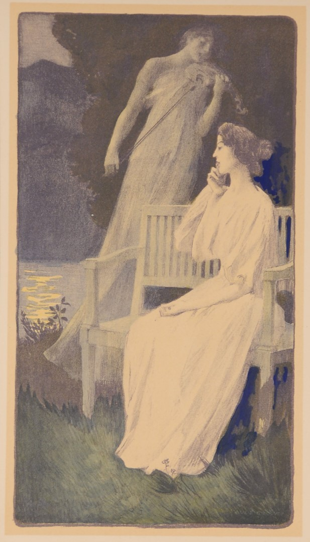 "Original L'Estampe Moderne ""Andante Nocturne"" by F. A. Gorguet, 1897"