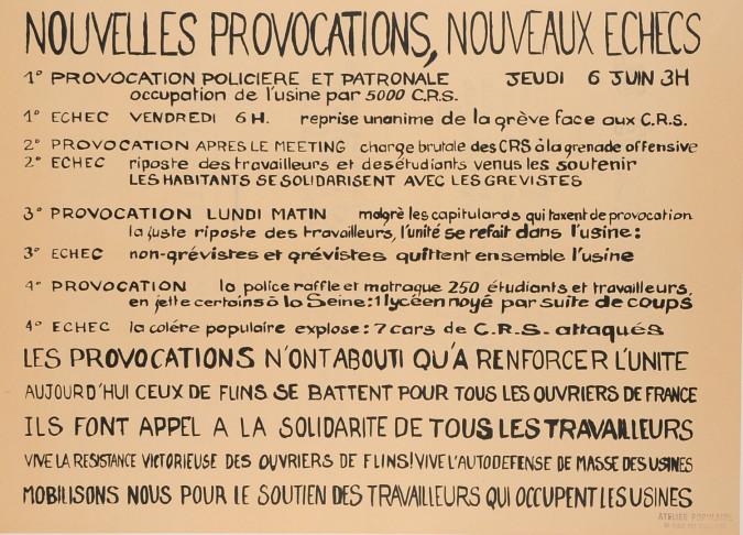 Original Vintage French Poster Student Revolution 1968