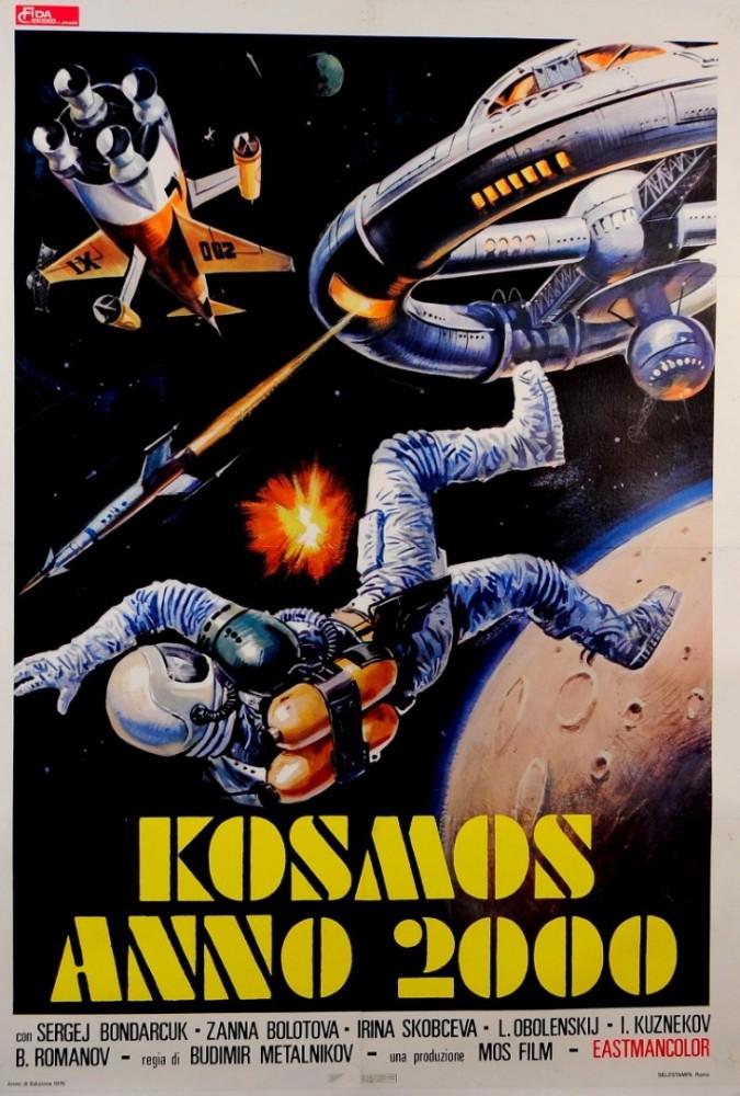 """Original Vintage Italian Movie Poster """"Kosmos Anno 2000"""" ca. 1973"""
