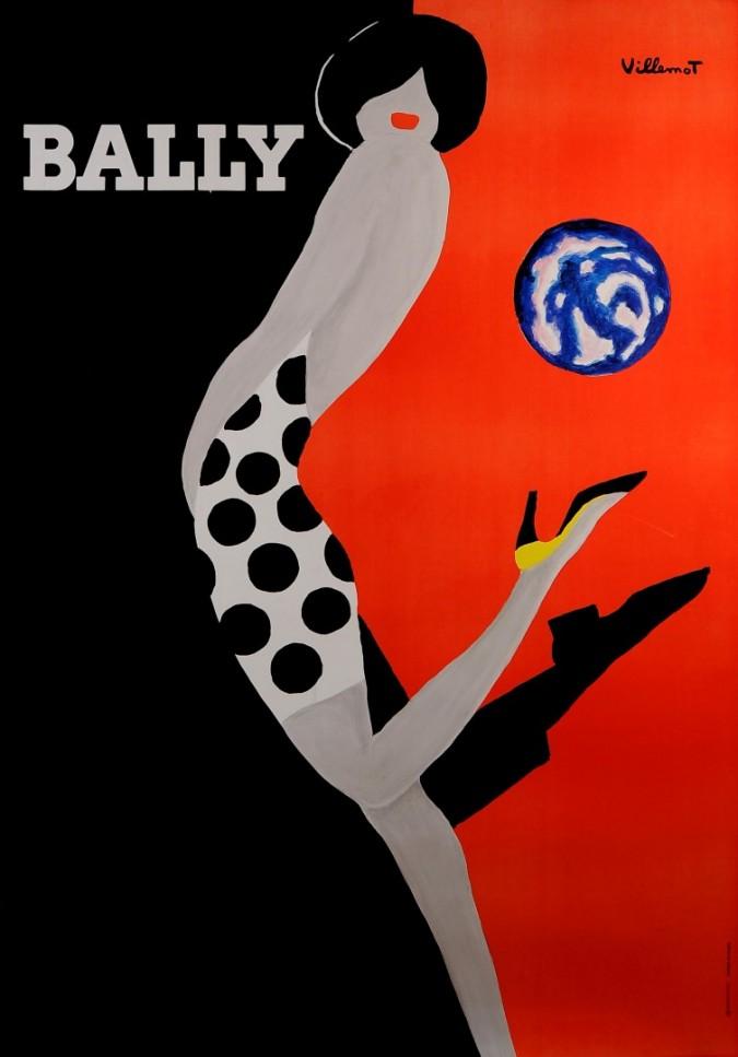 "Swiss Shoes Advertising Poster ""BALLY"" by Villemot"