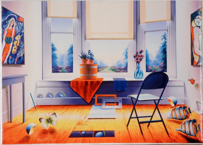 "Original Giclee Print Signed and Numbered By Ferjo 96/350 ""Room With a Chair"""