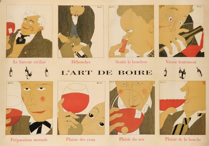 "French Wine Advertising Poster Print ""Etablissements Nicolas"""