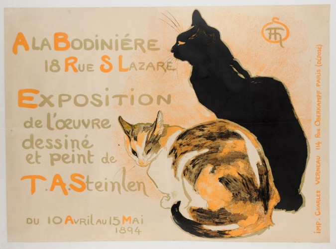 Original L'oeuvre Exhibition Advertising Art Nouveau Poster by Theophile Steinle
