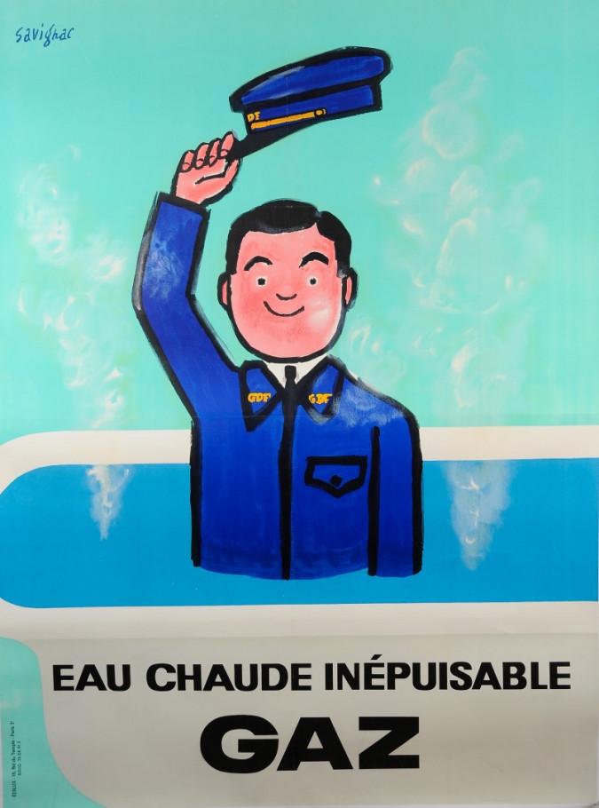 "French Advertising Poster ""Gaz de France (GDF)"" by Savignac"