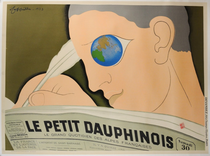 """Vintage REPRINT French Poster """"Le Petit Dauphinois"""" Cappiello ca. 1980"""